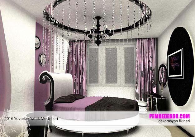Yuvarlak Yatak Odası Modelleri | Pembedekor